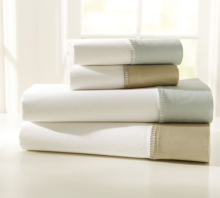 Banded Hemstitch 400-Thread-Count Sheet Set