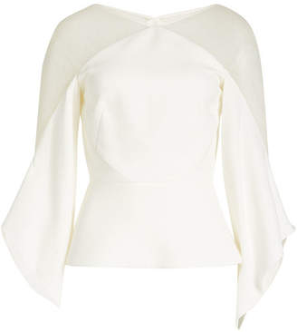 Roland Mouret Harthill Top with Sheer Inserts