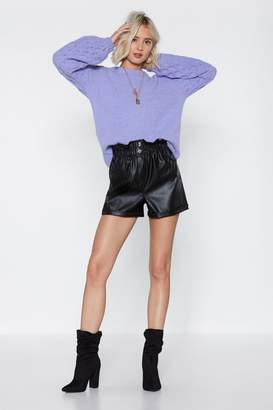 Nasty Gal Night On the Town Faux Leather Shorts
