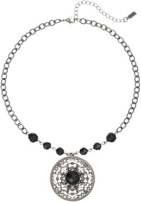 1928 Bead Scroll Medallion Pendant