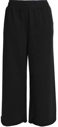 Alexander Wang Mélange Cotton-Blend Terry Wide-Leg Pants