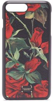 Dolce & Gabbana Iphone 7/8 Rose Print Case - Womens - Black Red
