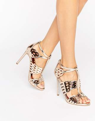 Carvela Give Bronze Metallic Heeled Sandals