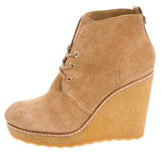Tory Burch Suede Wedge Ankle Booties