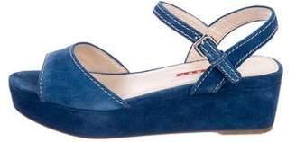 Prada Sport Suede Flatform Sandals