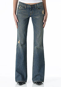 Alloy Truck Jeans Tinted Ripped Flares