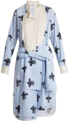 Loewe Floral-print tie-waist shirtdress