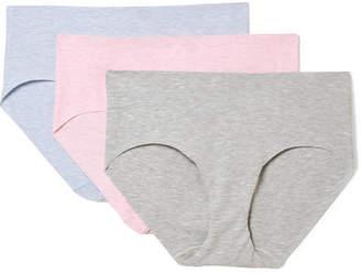 Commando Set Of Three Stretch-cotton Briefs - Gray