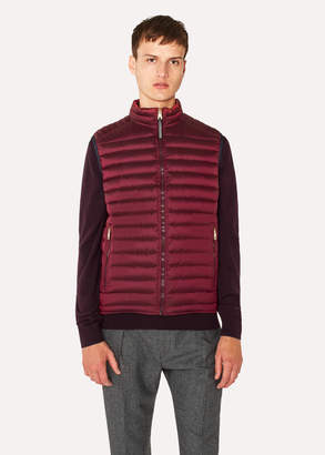 Paul Smith Men's Burgundy Quilted Down Gilet
