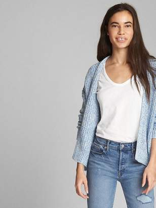 Gap Open-Front Cocoon Cardigan Sweater
