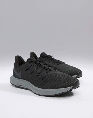 los angeles ead77 3d898 Nike Running Quest trainers in black aa7403-002