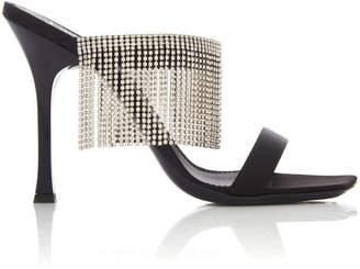 Giuseppe Zanotti Fringed Crystal-Embellished Suede Sandals