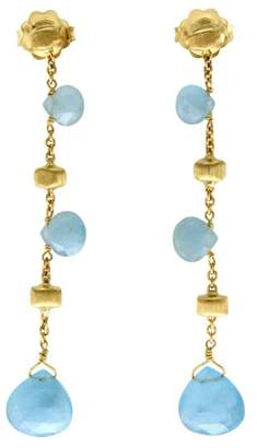 Marco Bicego 18K Yellow Gold Aquamarine Paradise Earrings