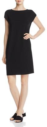 Eileen Fisher Bateau Neck Dress $178 thestylecure.com