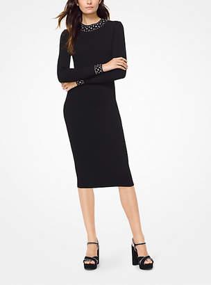 Michael Kors Embellished Stretch-Viscose Dress