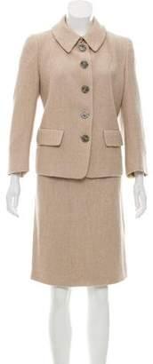 Les Copains Tailored Wool-Blend Skirt Suit