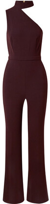 Rachel Zoe Suki One-shoulder Stretch-crepe Jumpsuit - Burgundy