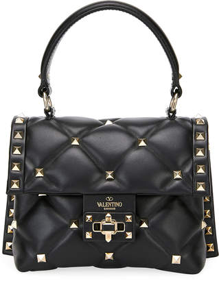 Valentino Candystud Quilted Mini Single-Handle Flap Bag