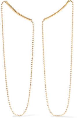 Saskia Diez Melting 18-karat Gold Earrings