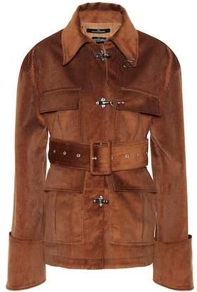 Rokh Belted corduroy jacket