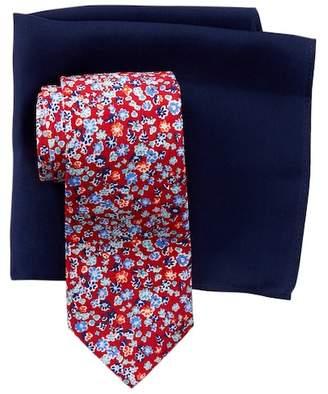Tommy Hilfiger Preppy Botanical Silk Tie & Pocket Square Set
