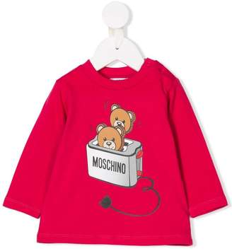 Moschino Kids Teddy toast print top