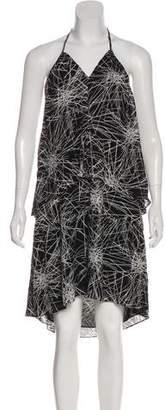 Diane von Furstenberg Abstract Print Halter Dress