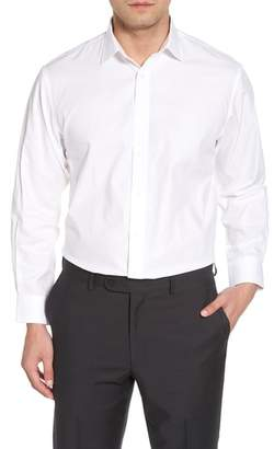 Nordstrom Traditional Fit Herringbone Dress Shirt