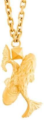 Valentino Golden Pisces Zodiac Pendant Necklace