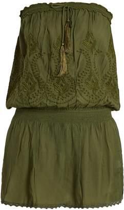 Melissa Odabash Fruley strapless broderie-anglaise dress