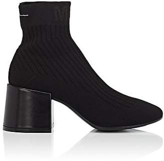 MM6 MAISON MARGIELA Women's Block-Heel Knit Ankle Boots - Black