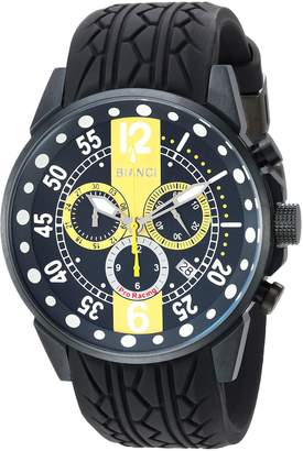 Roberto Bianci WATCHES Men's 'Messina' Quartz Stainless Steel and Rubber Casual Watch, Color: (Model: RB70989)