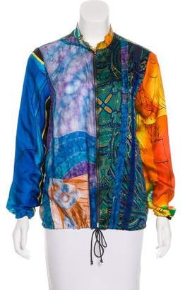 Burning Torch Upcycled Bomber Jacket w/ Tags