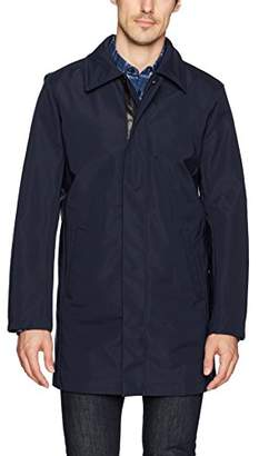 Calvin Klein Men's Nylon Full Zip Trench Coat