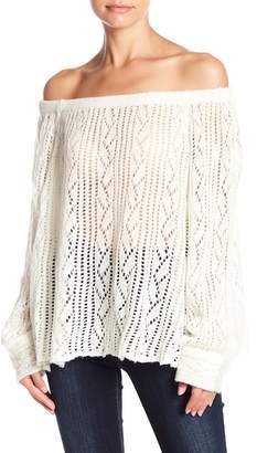Muche et Muchette Soho Off-the-Shoulder Metallic Knit Sweater