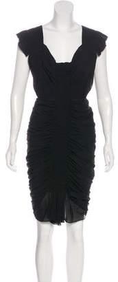 Zac Posen Sleeveless Silk Midi Dress