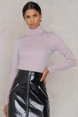 Na Kd Party Glittery Roll Neck Top