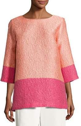 Caroline Rose Colorblock Cloque Tunic, Plus Size