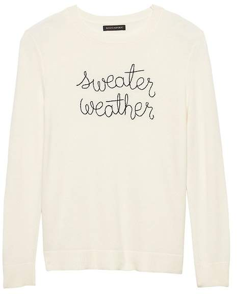 Italian Superloft Embroidered Graphic Sweater