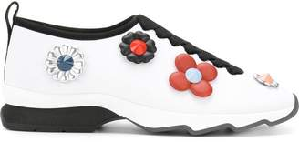 Fendi flower appliqué sneakers