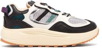 Eytys Jet Turbo Low Top Leather Trainers - Womens - White Multi