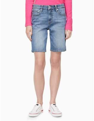 Calvin Klein light wash denim city shorts