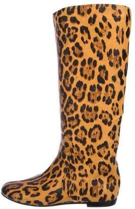Giuseppe Zanotti Animal Print Knee-High Boots