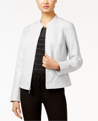 Alfani Perforated Faux-Leather Jacket, Only at Macy's $99.50 thestylecure.com
