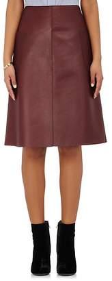 Barneys New York Women's Patch-Pocket Leather Skirt - Bordeaux