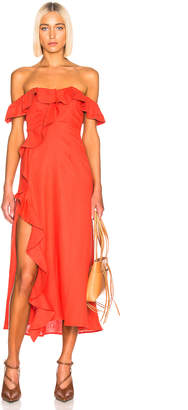 Beau Souci BEAU SOUCI Luciana Dress in Orange   FWRD
