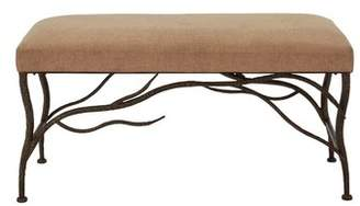 Bloomsbury Market Flynt Metal/Wood and Upholstered Bench