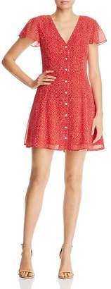 Aqua Dot-Print Button-Front Dress - 100% Exclusive