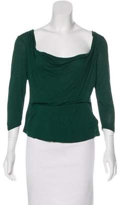 MICHAEL Michael Kors Three-Quarter Sleeve Cowl Neck Top