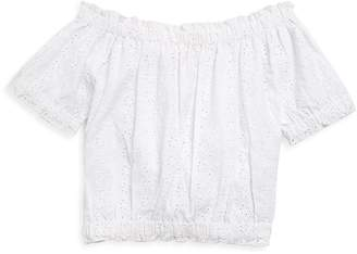 Design History Girl's Cotton Crop Top